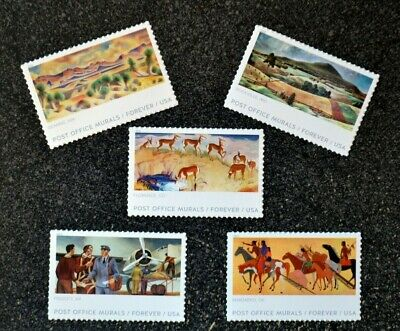 2019USA Forever - Post Office Murals - Set of 5 Singles  indian horse