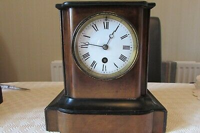 Nice French Mantel clock in working order, part ebonised and walnut?