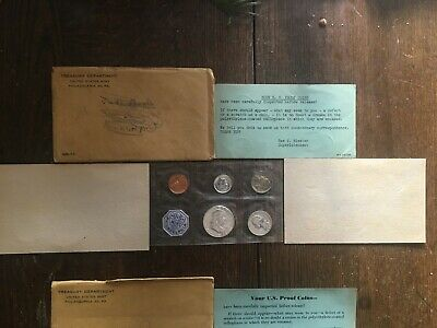 Lot of (7) U.S. Proof Coin Sets 1958, 1960, 61, 62, 63, 64, 65