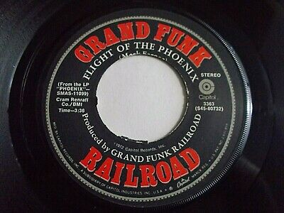 Grand Funk Railroad Flight Of The Phoenix / Rock N' Roll Soul 45 Vinyl Record