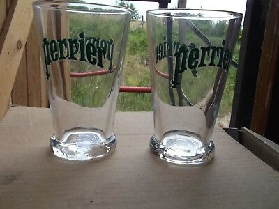 Set of 2 x Glass Perrier Classic Water Glasses B