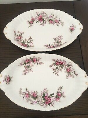 Royal Albert Lavender Rose Small Oval Dish X 2
