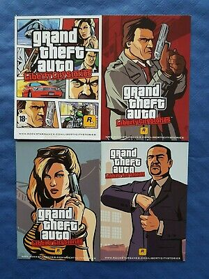 GTA Liberty City Stories 4 cartes postales 15x11 cm
