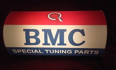 BMC,austin,mini,mg,leyland,morris,garage,oil,light up,sign,mancave,50s,60s,70s,3