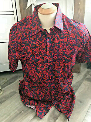 b5268180 MEN'S PAUL SMITH FLORAL SHORT SLEEVE CAMP SHiRT SZ MED HiPSTER ...
