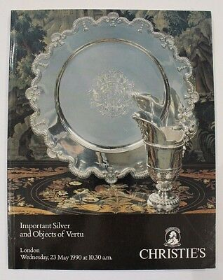 Christies May 1990 Important Silver and Objects of Vertu  Auction Catalogue