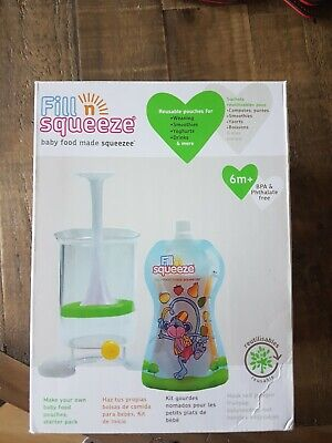 Fill N Squeeze Weaning Set 6m+ baby food pouches