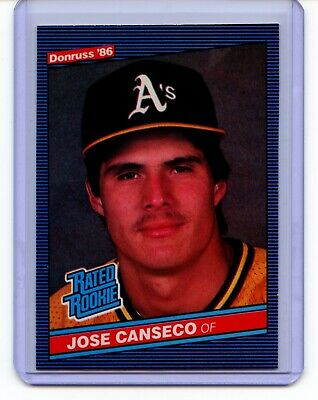 Jose Canseco 1986 Donruss Baseball Rookie Card 39 As Nice