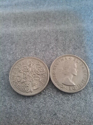 1964 SIXPENCE QUEEN ELIZABETH II   Lucky COIN 55TH BIRTHDAY