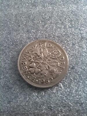 1962  SIXPENCE QUEEN ELIZABETH II   Lucky COIN 57TH BIRTHDAY