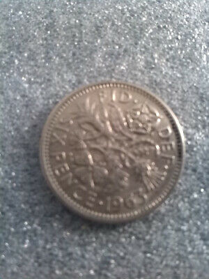 1963  SIXPENCE QUEEN ELIZABETH II   Lucky COIN 56TH BIRTHDAY