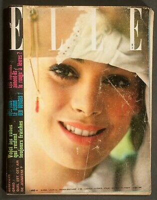 'elle' French Vintage Magazine Genevieve Grad Cover 18 May 1962