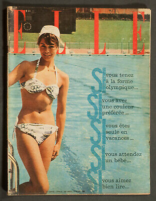 'Elle' French Vintage Magazine Holiday Issue 5 August 1960