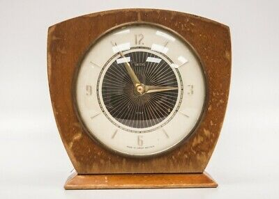 Vintage Smiths 8 Day Mantle Clock Wooden Untested #363