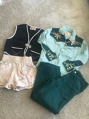 Roy Rogers Lot Of Antique Kids Clothes Size 5 Extremely Rare