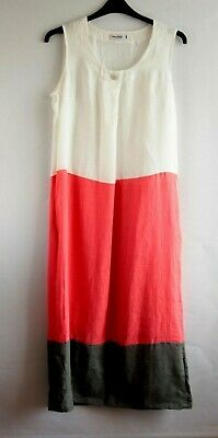 83d14129e4 Eden Rock made in Italy block color 100% linen shift day dress size UK