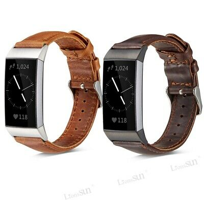 Replacement Genuine Leather Wristband Band Strap Bracelet For Fitbit Charge 2/3