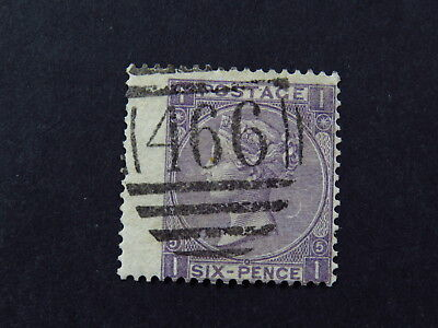 stamp Great Britain England Victoria Grid 466 Postmark SG97 Pl5/6 Extra Wide