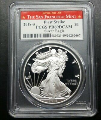 2018-S American Silver Eagle Proof - PCGS PR69 DCAM First Strike