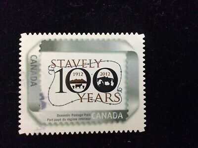 Canada Picture Postage Stamp / Personalized Stamps - Used - Stavely 100 Years