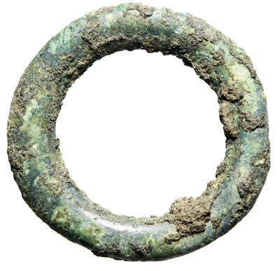 PRE COINAGE Celtic Ring Proto Money 14mm 8th-4th Cent BC CERTIFIED AUTHENTIC
