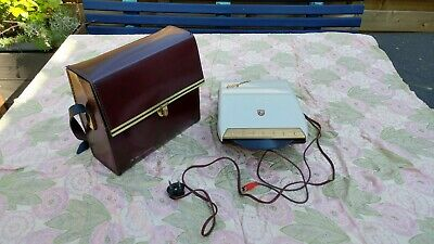 Vintage Philips Mignon ag21 00 from 1958 + Bell & Howell lether bag