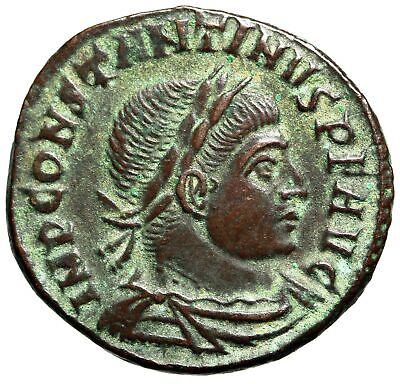 """HIGH QUALITY Constantine I The Great Coin """"Roman Sun Diety, Sol"""" CERTIFIED RARE"""