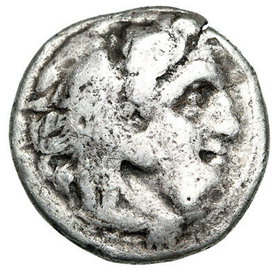 "SILVER Alexander III The Great Greek Drachma Coin ""Herakles & Zeus"" CERTIFIED"