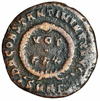 """RARE Constantine I The Great Coin of Heraclea Mint """"VOT XXX in Wreath"""" CERTIFIED"""