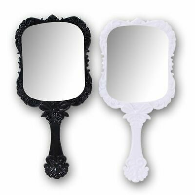 Cosmetic Mirrors Quality Plastic Vintage Makeup Hand Held Portable Retro Pattern