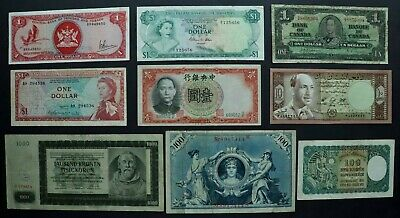 Foreign Banknote Lot: Collection of Better Foreign Banknotes