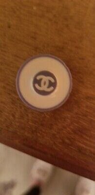 Lot of 1 Vintage Chanel CC Logo blue White Buttons 20 mm-0,8 inch