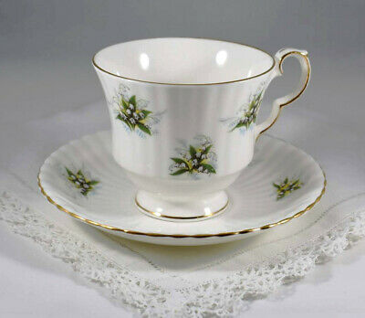 Royal Windsor Lilly of the Valley Tea Cup & Saucer Fine Bone China England