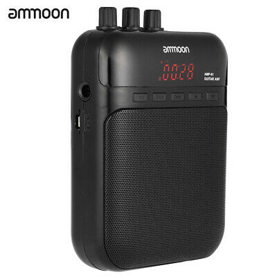 Guitar Amplifier Recorder Speaker Electric Guitars Amp TF Card Support Portable