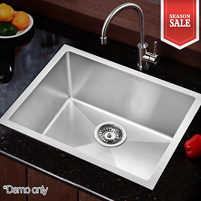 Stainless Steel Silver Sink Kitchen Laundry Scratch Proof Bowl Basin 540x440mm