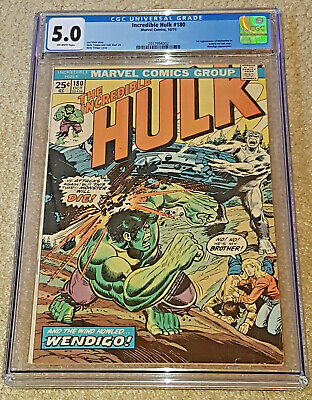 Marvel Incredible Hulk 180 CGC 5.0 Wolverine First Appearance Cameo