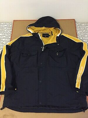 Nautica Jeans Co jacket size L vtg navy blue yellow
