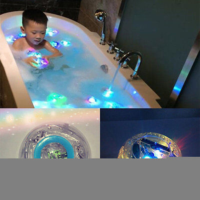 Waterproof Bathroom LED Light Toys Kids Children Funny Bath Toy Multicolor PY
