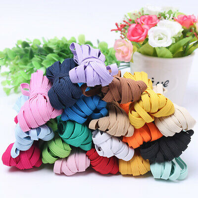 10M Thickening Satin Elastic Spandex Band DIY Sewing Craft Trim Wide 6MM