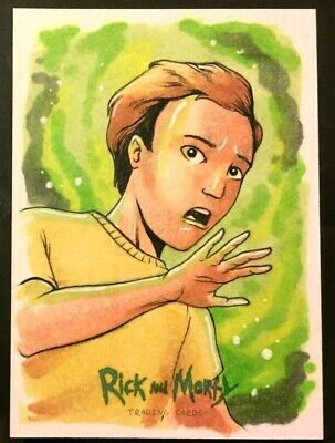 RICK & MORTY 2018 SKETCH  Cryptozoic Card MINT!