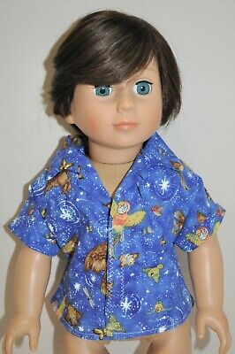"""American Girl Doll Our Generation Journey 18"""" Boy Dolls Clothes Cotton Shirt"""