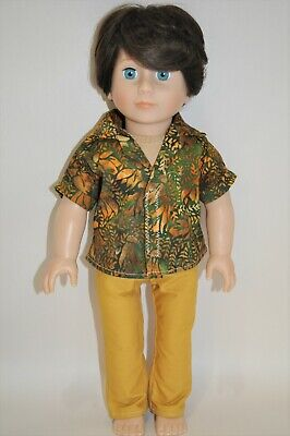 18 Inch Boy Doll Clothes fit American Girl Our Generation Shirt and Pants