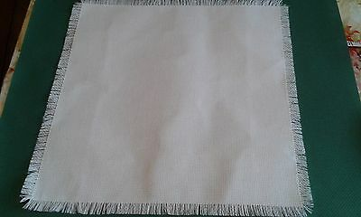 """A 14"""" square 14 ct Aida ideal for x stitch tray clothes,dresser or table mats"""