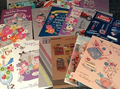 Mixed Pack Of 5 Adults Male And Female Birthday Cards Various Sets And Designs