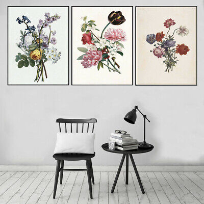 Flower Plants Canvas Print Poster Bedroom Living Room Wall Picture Home Decor