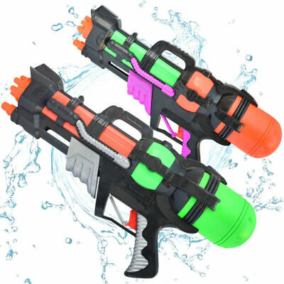 Water Gun Pump Action Pistol Outdoor Shoot Blaster Squirt Soaker Kids Toy UK