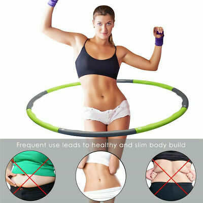 Large Hula Hoop Weighted Gym Workout Fitness Ring Ab Padded Foam Home 1kg 100cm
