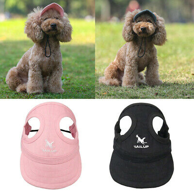 Dog Hat Summer Baseball Dog Sun Hat Cap With Ear Holes for Small Large Dogs