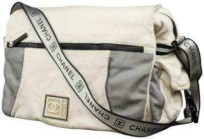e0cfdf3f35cde3 Chanel Messenger Large Cc Sports Logo White Nylon Cross Body Bag 228822