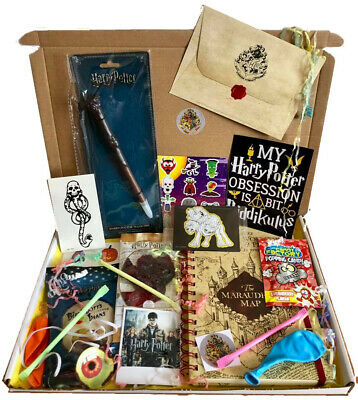 Harry Potter Personalised Gift Box Hamper and Hogwarts Acceptance Letter